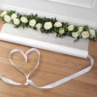 Floral-Accented Aisle Runner